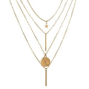 Jewelry - 3 for $25⚡️multilayer star bar coin necklace